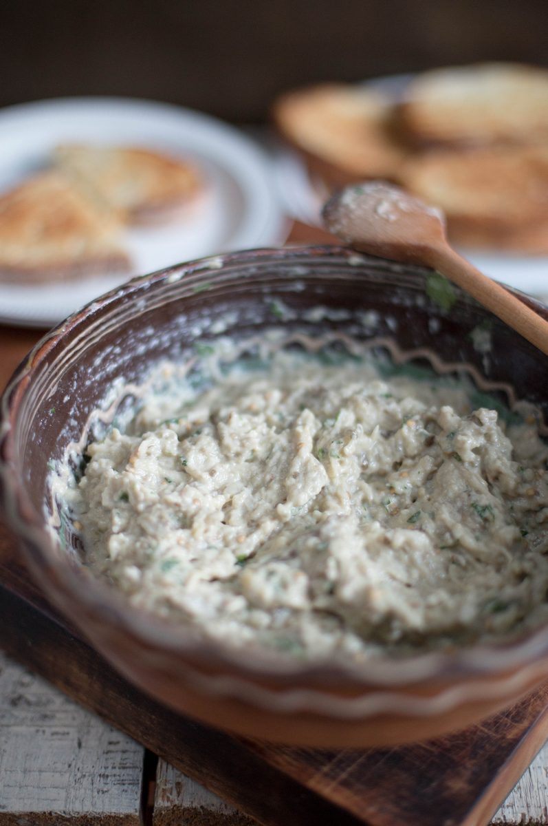 salata orientala de vinete - baba ghanoush