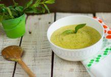 supă cremă de mazăre cu mentă