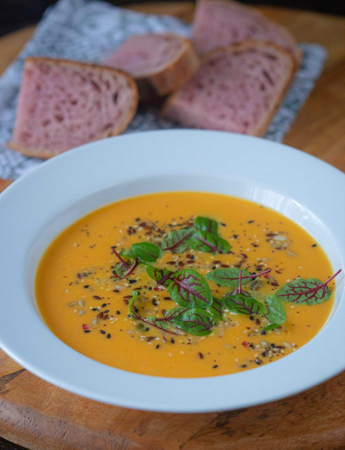 supă cremă de cartofi dulci – și puțin despre supe creme, în general