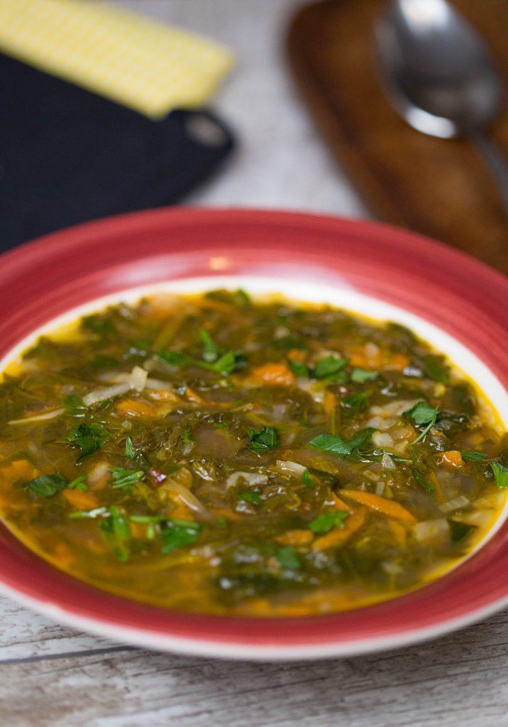 ciorbă cu spanac, stevie si macris
