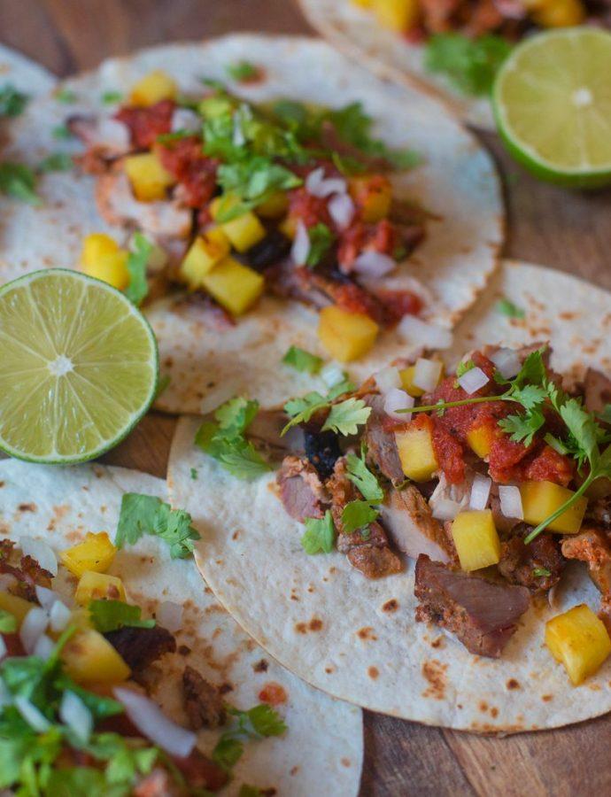 tacos al pastor, shaorma mexicană cu carne de porc