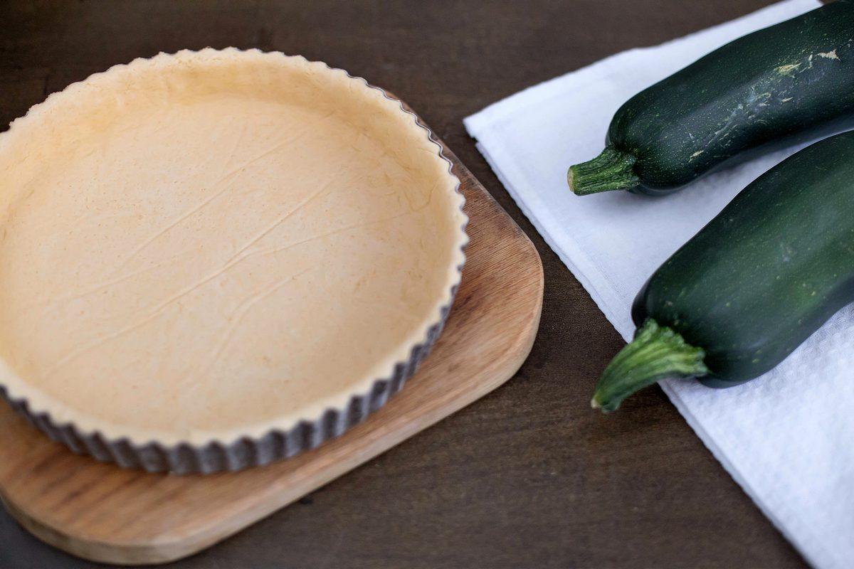 tarta sarata cu zucchini - aluat quiche