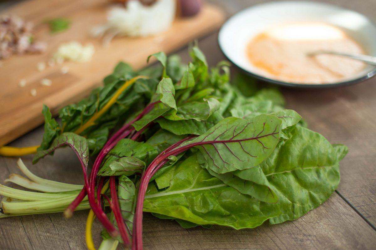 omleta cu mangold si piersica