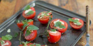 roșii la cuptor cu oregano