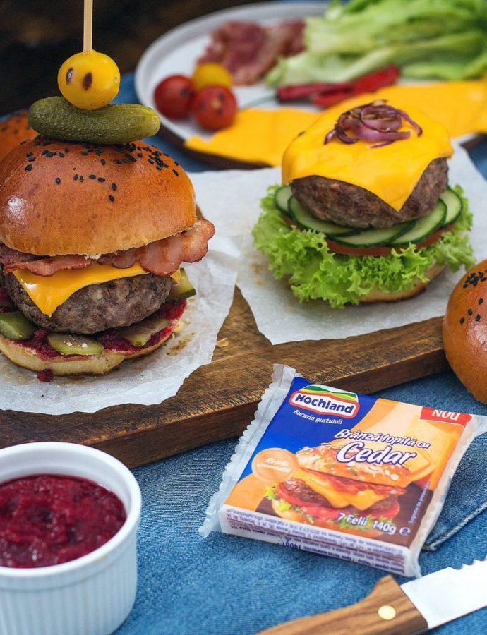 cum devine mai bun un burger. îl educi și-l faci cheesburger
